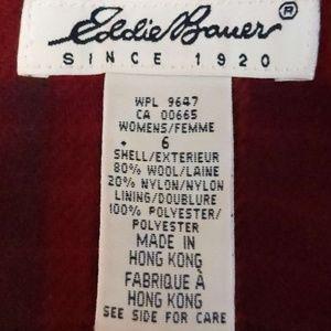 Eddie Bauer Wool Flannel Sleeveless Shift Dress